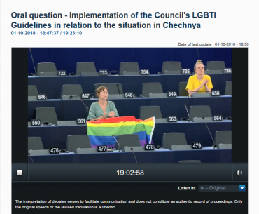 #ChechnyaOneYearOn: MEPs ask Commission about torture of (perceived) LGBTI people in Chechnya