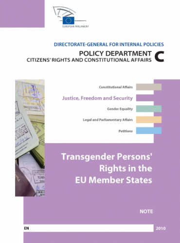 European Parliament internal note: Transgender Persons' Rights in the EU Member States
