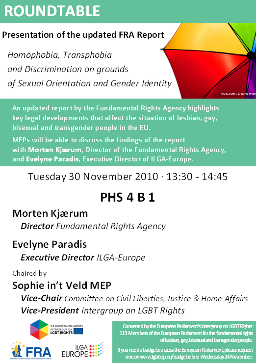 Intergroup Roundtable: Updated report on homophobia in Europe