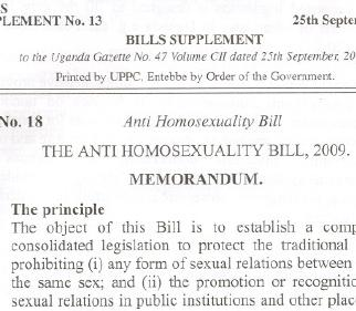 Letter to Uganda MPs: Do not adopt the Anti-Homosexuality Bill, death penalty or not
