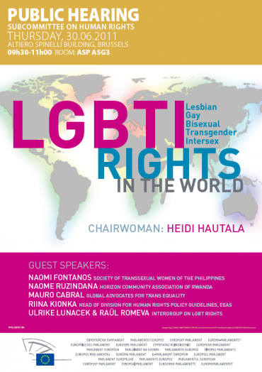 European Parliament Hearing: LGBTI Rights in the World