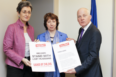 Catherine Ashton and MEPs receive petition on freedom of speech in Russia