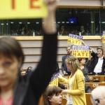 Sylvie GUILLAUME MEP, Willy MEYER MEP, Martina ANDERSON MEP, Jean-Luc MELANCHON, Marisa MATIAS MEP,