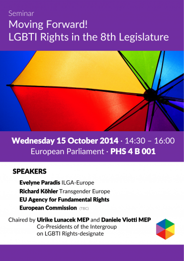 Upcoming event: Moving Forward! LGBTI Rights in the 8th Legislature