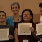 Jesse Vilela (Sociedad Trans FTM Peru), Ulrike Lunacek MEP, Anne Lim (GALANG Philippines), Khouloud Mahdhaoui (CHOUF Tunisia)