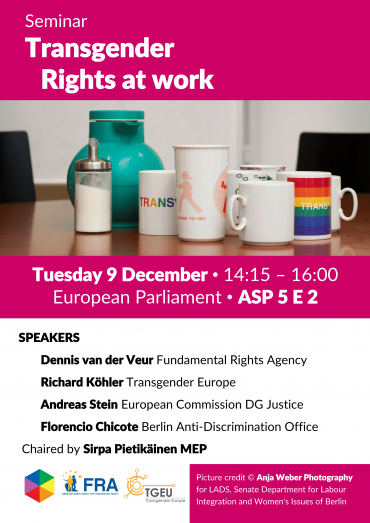 Upcoming event: Transgender – Rights at work