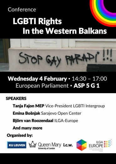Upcoming event: LGBTI Rights in the Western Balkans