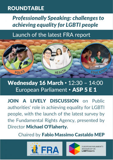 Upcoming event – Professionally Speaking: challenges to achieving equality for LGBTI people